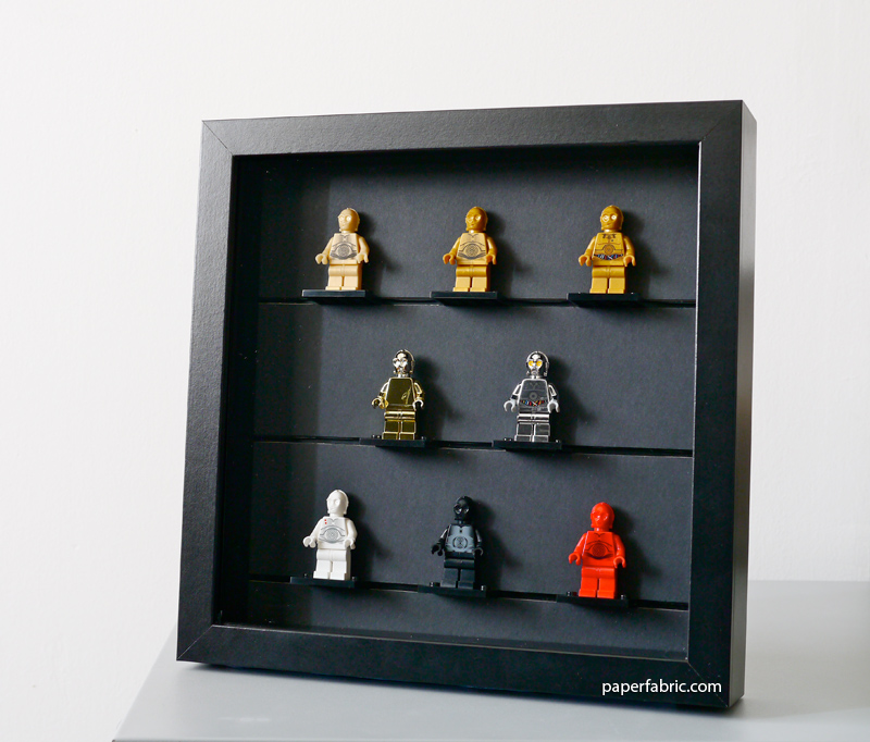 Hand Crafted LEGO Minifigure Display IKEA Ribba Frame | Paper Fabric