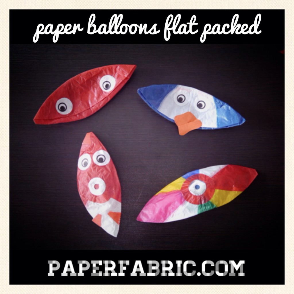 Flat Packed Paper Balloons