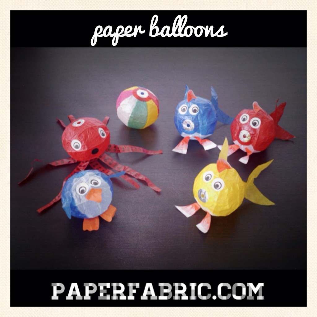 Paper Balloons Inflated